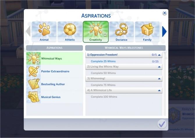 Hidden aspirations sims 4