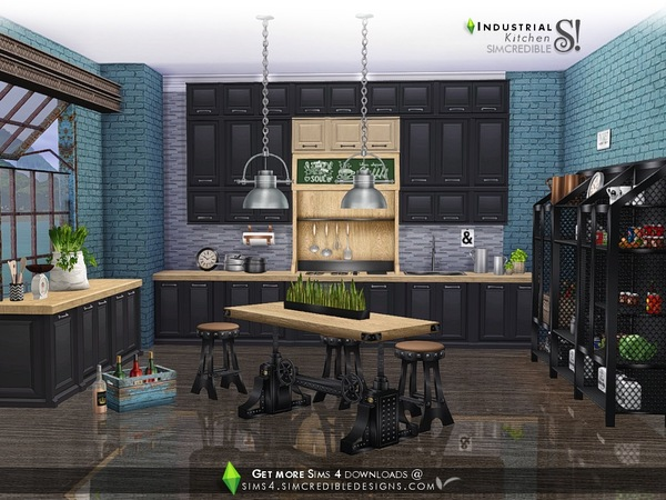 Industrial Kitchen by SIMcredible at TSR image 4220 Sims 4 Updates