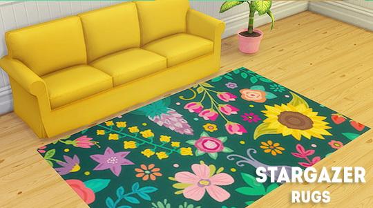 Sims 4 Stargazer rugs at Lina Cherie