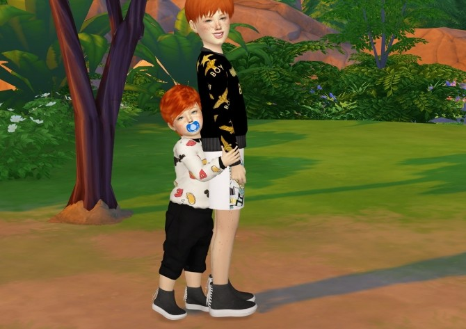 MMSIMS BACK LACE UP SHOES KIDS AND TODDLER VERSION at REDHEADSIMS – Coupure Electrique image 426 670x473 Sims 4 Updates
