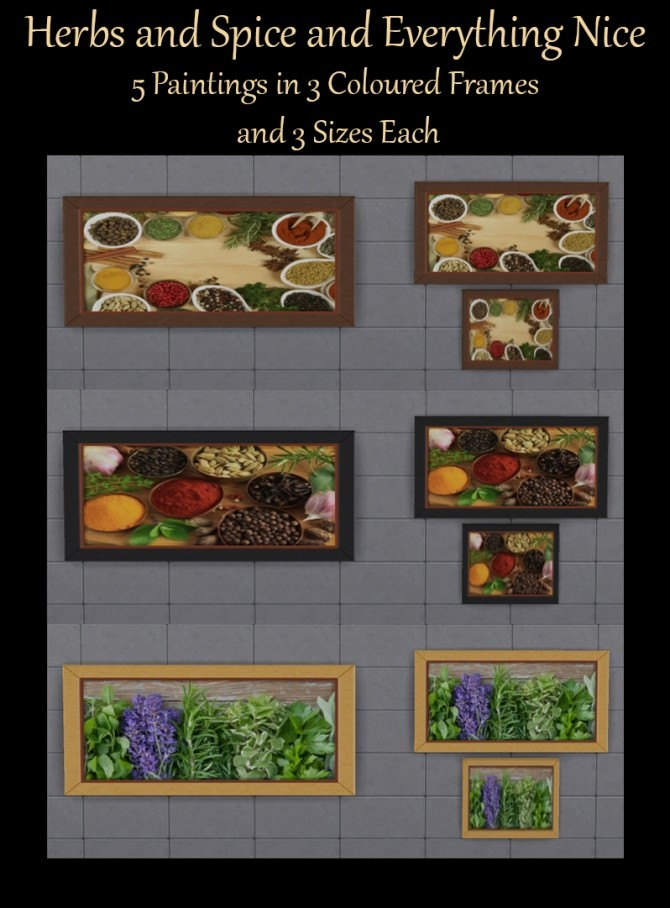 Herbs and Spice Paintings by Simmiller at Mod The Sims image 4310 670x908 Sims 4 Updates