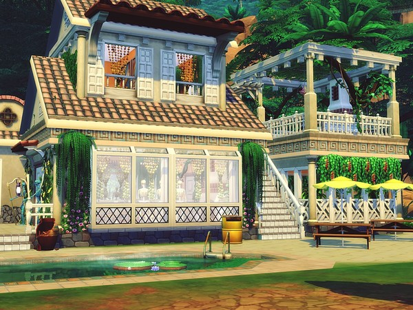 Jungle Restaurant by MychQQQ at TSR image 4313 Sims 4 Updates