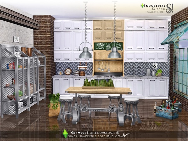 Industrial Kitchen by SIMcredible at TSR image 4318 Sims 4 Updates