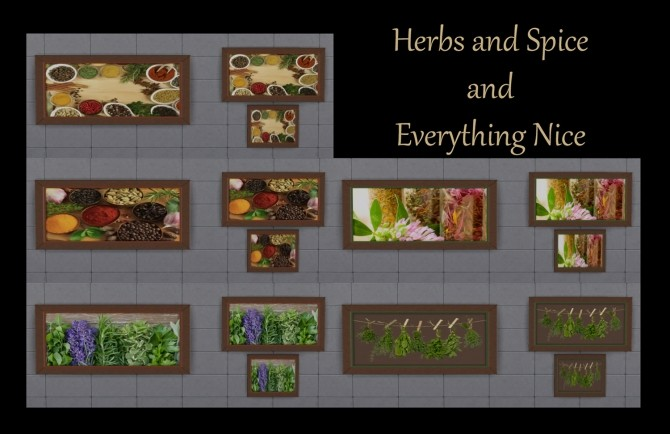 Herbs and Spice Paintings by Simmiller at Mod The Sims image 4410 670x434 Sims 4 Updates