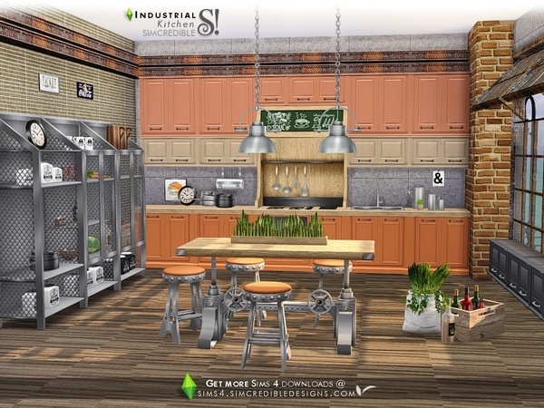 Industrial Kitchen by SIMcredible at TSR image 4419 Sims 4 Updates