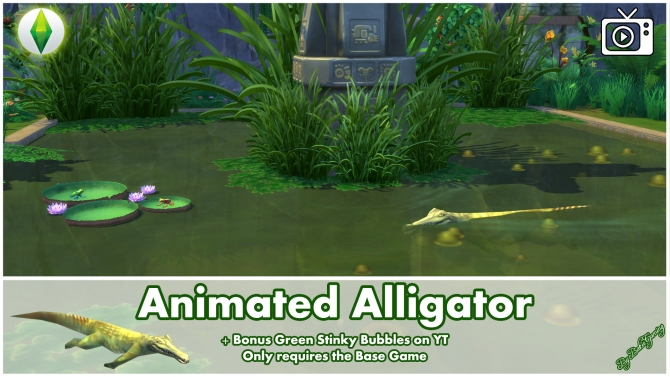 Animated Alligator By Bakie At Mod The Sims 187 Sims 4 Updates