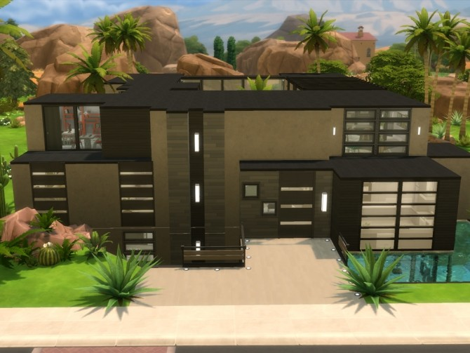Modern Oasis Springs Mansion by rayunemoon at Mod The Sims image 4612 670x503 Sims 4 Updates