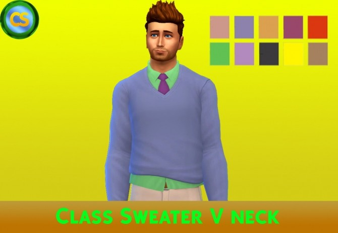 Class Sweater V Neck by cepzid at SimsWorkshop image 465 670x461 Sims 4 Updates