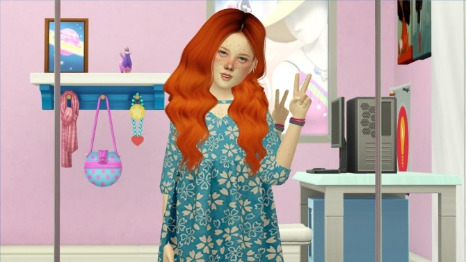 Sims 4 LEAH LILLITH RAINE HAIR KIDS AND TODDLER VERSION at REDHEADSIMS