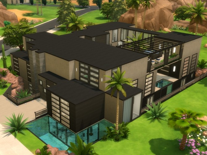 Modern Oasis Springs Mansion by rayunemoon at Mod The Sims image 4712 670x503 Sims 4 Updates