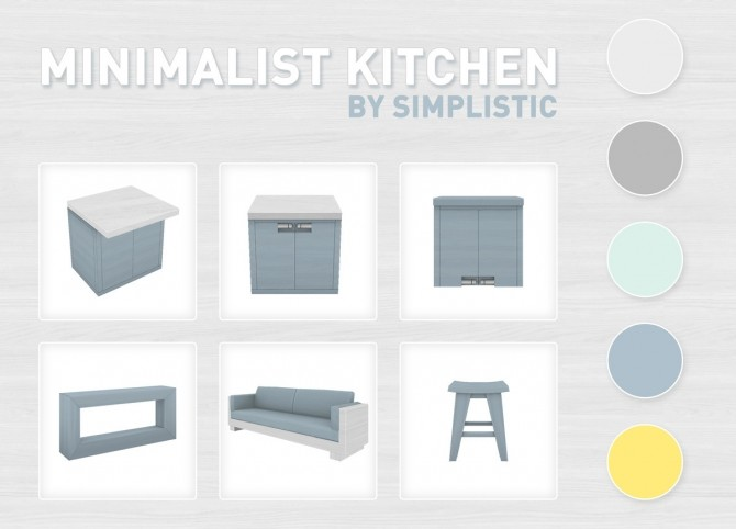 Minimalist Kitchen Set at SimPlistic image 4717 670x482 Sims 4 Updates