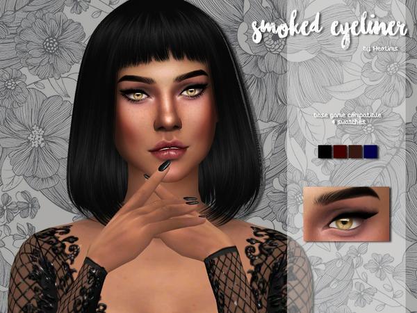 Sims 4 Smoked Liner by Heolims at TSR