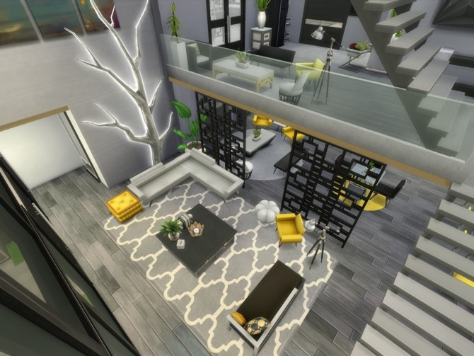 Sims 4 Modern Oasis Springs Mansion by rayunemoon at Mod The Sims