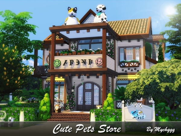 Cute Pets Store by MychQQQ at TSR image 4819 Sims 4 Updates
