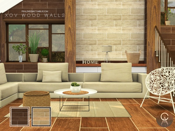 XOV Wood Walls by Pralinesims at TSR image 488 Sims 4 Updates