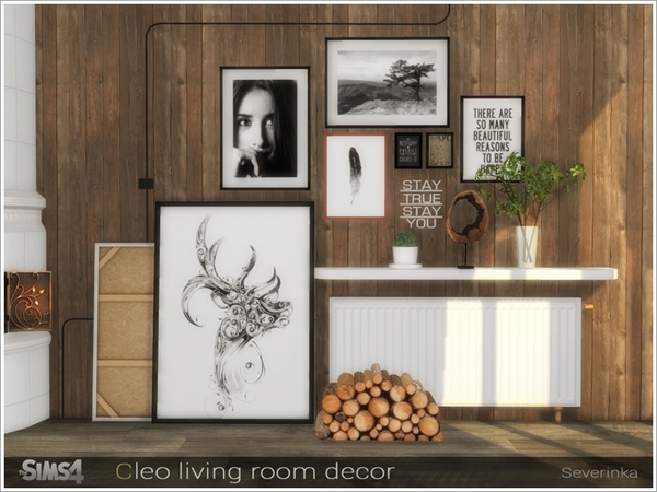 Sims 4 Cleo living room decor by Severinka at TSR