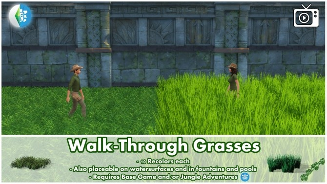 Walk Through Grasses by Bakie at Mod The Sims image 4922 670x377 Sims 4 Updates
