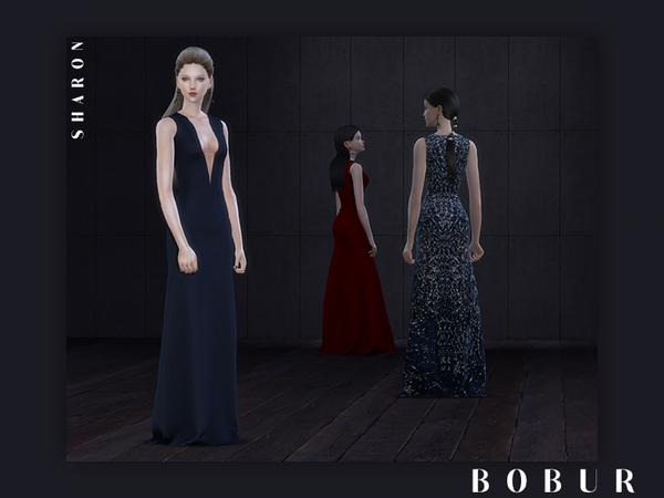 Sims 4 Sharon dress by Bobur3 at TSR