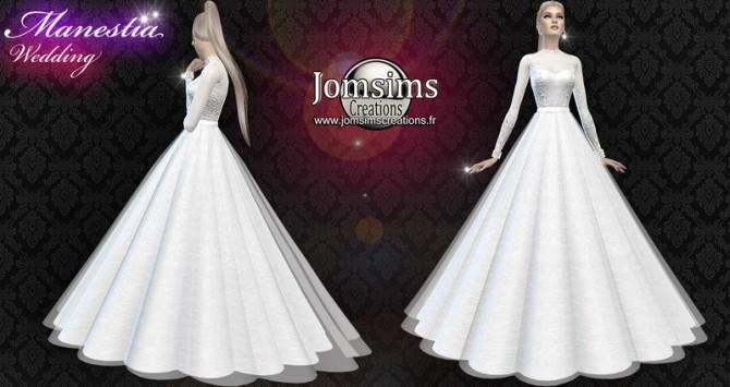 Manestia Wedding Dress At Jomsims Creations Sims 4 Updates