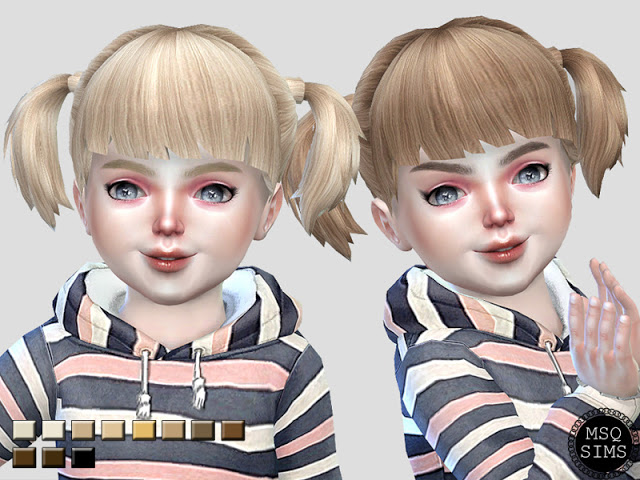 Toddler PigTails Hair Recolor at MSQ Sims image 5018 Sims 4 Updates