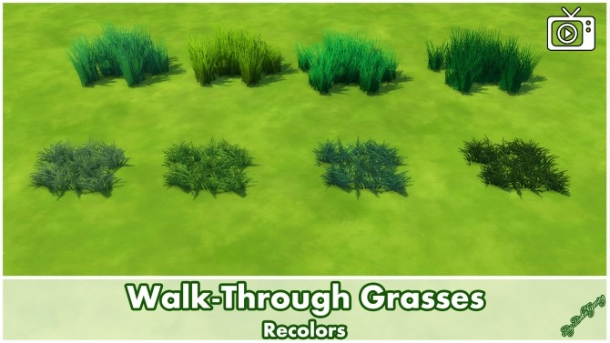 Sims 4 Walk Through Grasses by Bakie at Mod The Sims