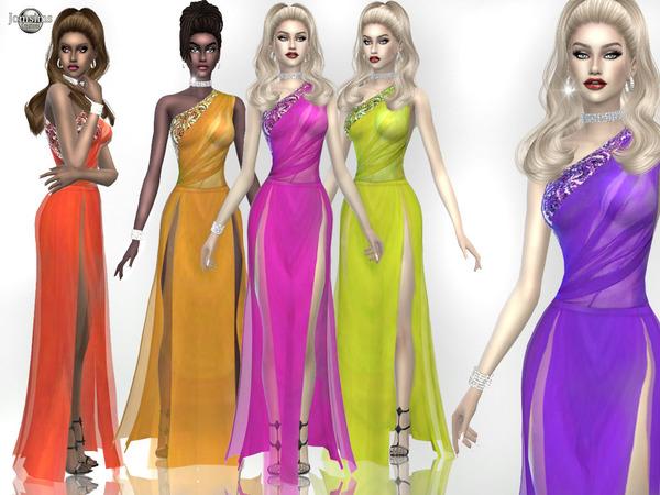 Sims 4 Eneja dress by jomsims at TSR