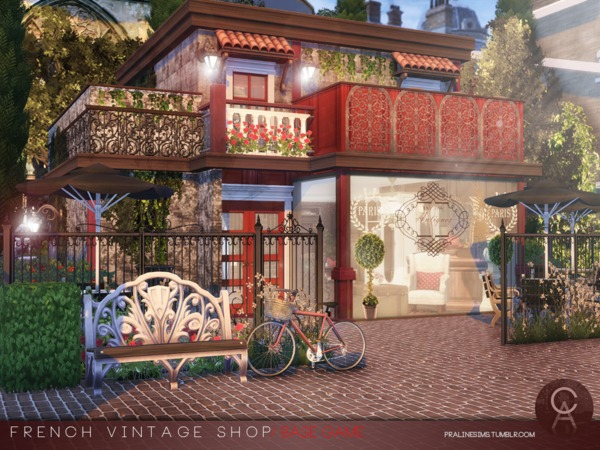 French Vintage Shop by Pralinesims at TSR image 51 Sims 4 Updates