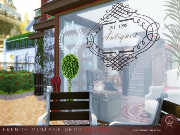 French Vintage Shop by Pralinesims at TSR image 52 Sims 4 Updates