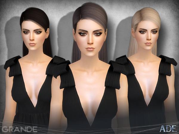 Sims 4 Grande hair by Ade Darma at TSR