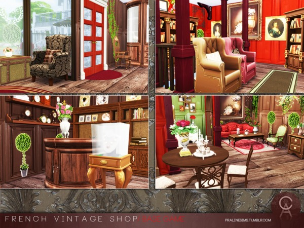 French Vintage Shop by Pralinesims at TSR image 53 Sims 4 Updates