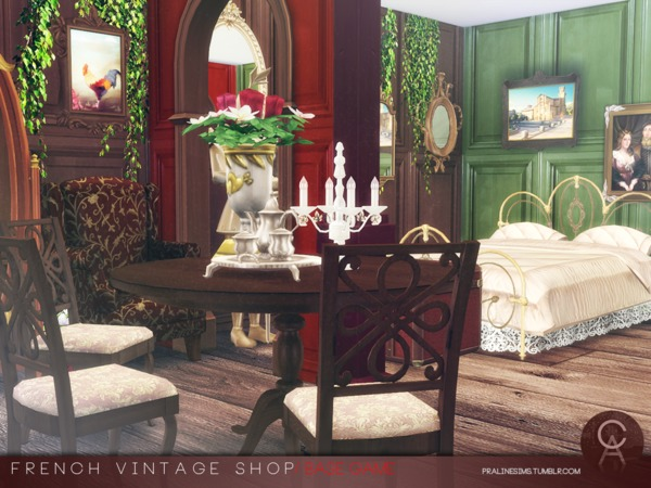French Vintage Shop by Pralinesims at TSR image 54 Sims 4 Updates