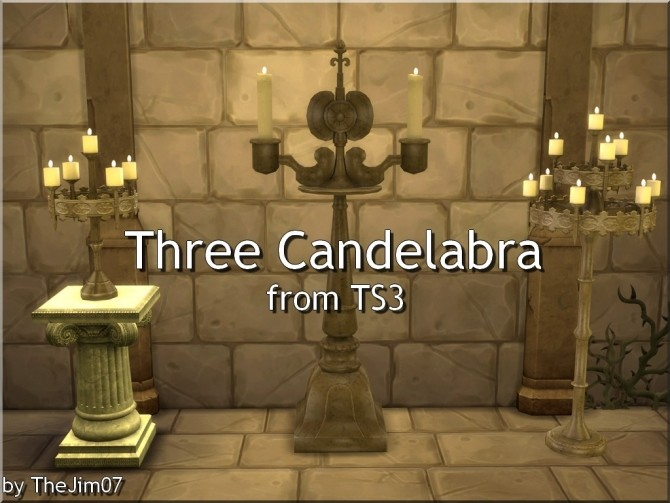 Three Candelabra from TS3 by TheJim07 at Mod The Sims image 5413 670x503 Sims 4 Updates