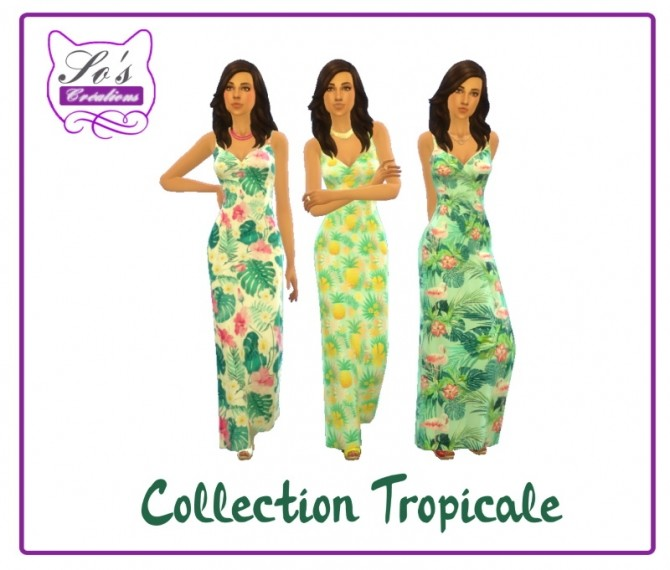 Tropical collection Summer dress by Sophie Stiquet at Sims 4 Fr image 548 670x570 Sims 4 Updates