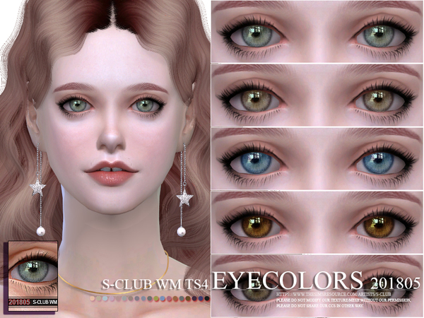 Eyecolors 201805 by S-Club WM at TSR » Sims 4 Updates