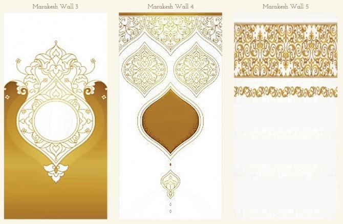 Sims 4 Marakesh Walls 3 Sizes at TheUnicorn Creations