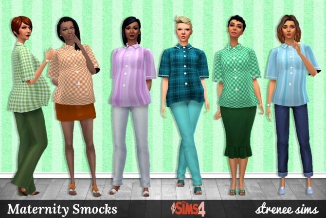Sims 4 Maternity Smocks at Strenee Sims
