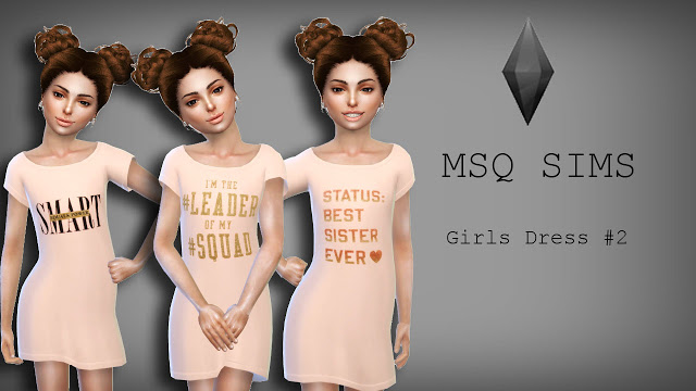 Girls Dress #2 at MSQ Sims image 579 Sims 4 Updates