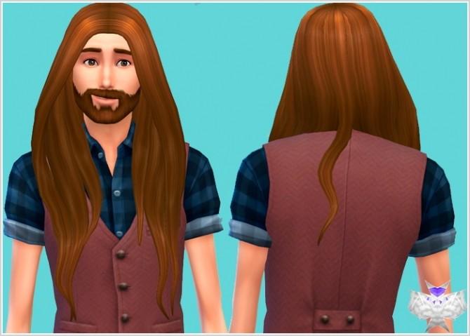 Sims 4 Rose Hair for Males at David Sims