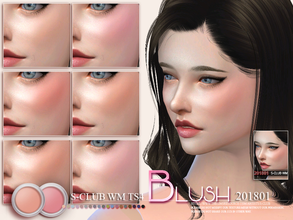 Blush 201801 by S Club WM at TSR image 6020 Sims 4 Updates