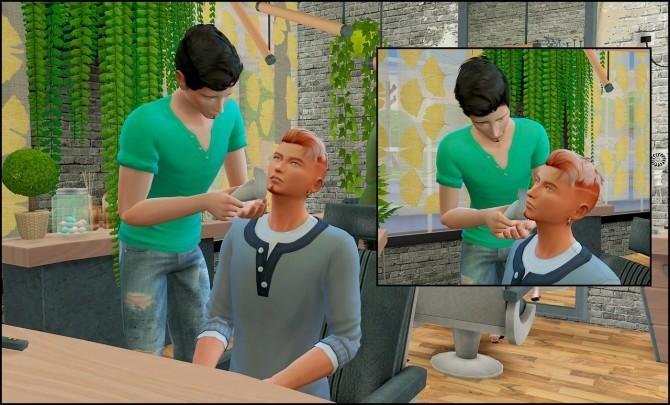 Barber shop posepack at Rethdis love image 606 670x405 Sims 4 Updates