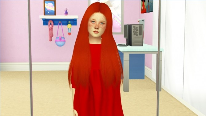 Sims 4 SIMPLICIATY BELIEVE HAIR KIDS VERSION at REDHEADSIMS