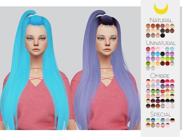 Sims 4 Hair Retexture 37 LeahLilliths Radiant by Kalewa a at TSR