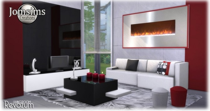 Revazum livingroom at Jomsims Creations image 622 670x355 Sims 4 Updates