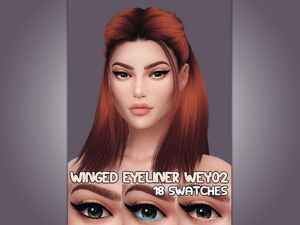 Winged Eyeliner WEy02 by KatVerseCC at TSR image 6221 Sims 4 Updates