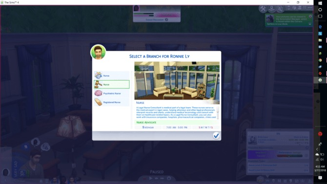 Sims 4 Nursing Career by Arriannarere at Mod The Sims