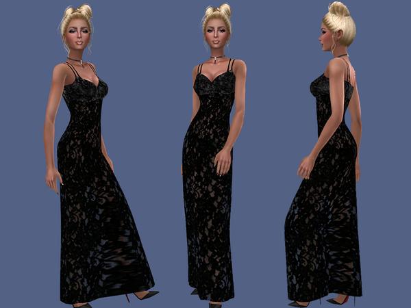 Sims 4 Louisa dress by Simalicious at TSR
