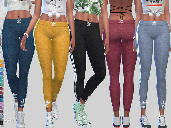 Sims 4 Play To Win Athletic Leggings 043 by Pinkzombiecupcakes at TSR