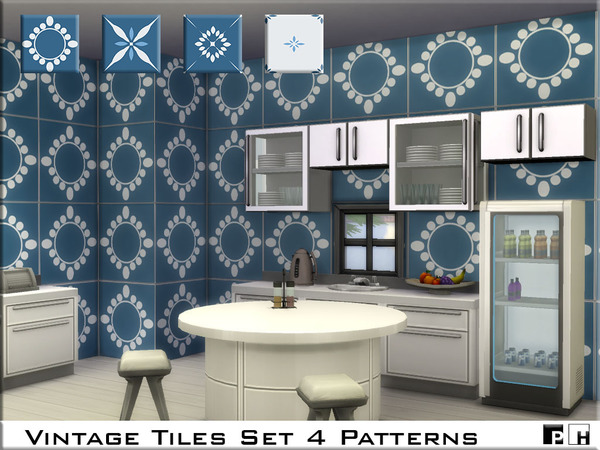 Vintage Tiles Set by Pinkfizzzzz at TSR image 640 Sims 4 Updates