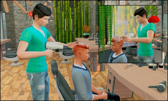 Barber shop posepack at Rethdis love image 646 670x405 Sims 4 Updates