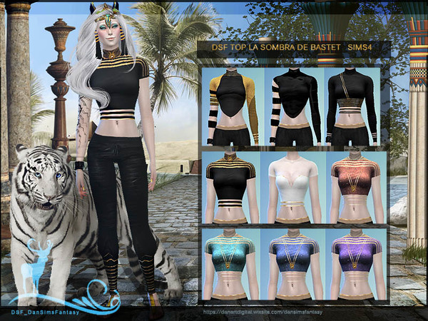 Sims 4 DSF TOP THE SHADOW OF BASTET by DanSimsFantasy at TSR